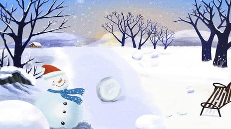 크리스마스 눈 눈 일러스트 배경 별이 빛나는 하늘,아름다운,꿈,마을,눈,눈이 ,내리는,것,별이 배경 이미지