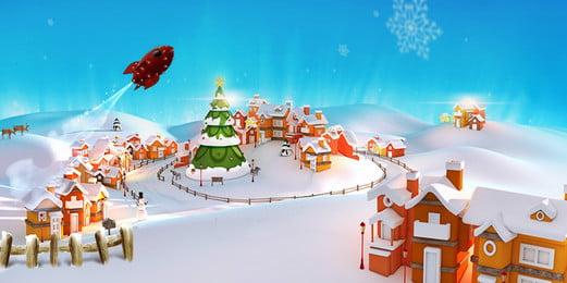 material de fundo inverno neve natal, Natal, Caricatura, Snow Imagem de fundo
