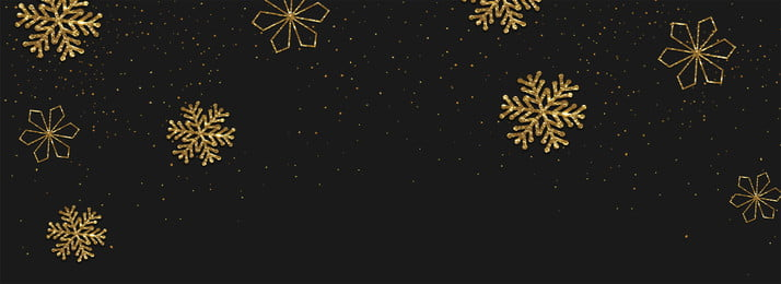 क्रिसमस स्नोफ्लेक पृष्ठभूमि काले लक्जरी सोने के बैनर, क्रिसमस, हिमपात का एक खंड, पृष्ठभूमि पृष्ठभूमि छवि