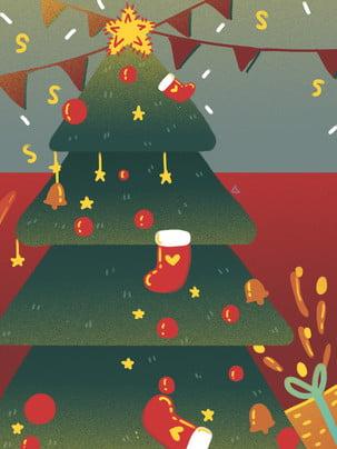 크리스마스 트리 선물 장식 배경 , 크리스마스 장식, 크리에이티브, 크리스마스 이브 배경 이미지