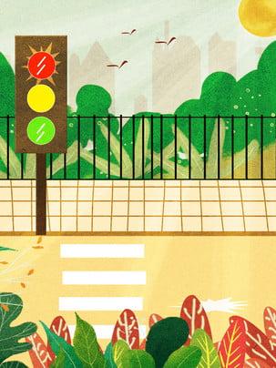 an toàn giao thông của vẽ minh họa cho nền văn minh , Người Tình Nguyện, Ngựa Vằn Nền, Đèn Xanh đèn đỏ. Ảnh nền
