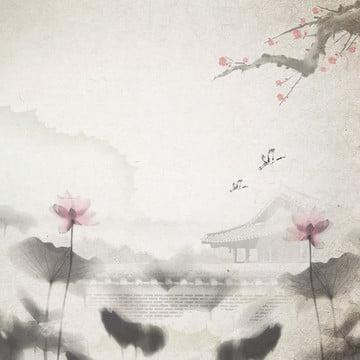古典境地中国風水墨風景広告の背景 , 中国の水墨, 中国風の背景, クラシックな背景 背景画像