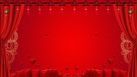 Classical Chinese Wedding Stage Background Design, Festive Background, Chinese Style, Chinese Background, Background image