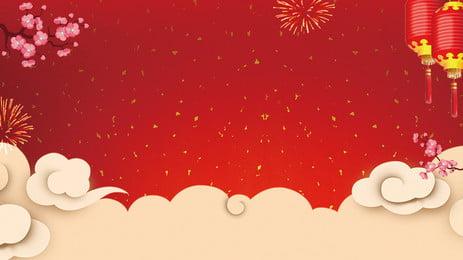古典祥雲春節背景設計, 中國風背景, 手繪背景, 古典 背景圖片