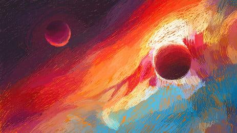 coil melukis latar belakang berbintang alam semesta, Bulan, Latar Belakang Gegelung Gegelung, Mandi Meteor imej latar belakang