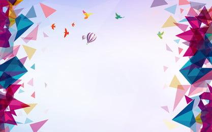 màu sắc hình học vật liệu nền năm mới, Mùa Xuân Mới, Năm Mới, Lễ Hội đèn Lồng Ảnh nền