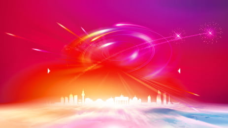 color ray building advertising background, Advertising Background, Colorful Background, Intelligent Background image