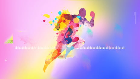 color runners advertising background, Advertising Background, Colorful Background, Circle Background image