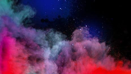 awan berwarna warni berbintang langit bahan latar belakang, Berwarna-warni, Latar Belakang, Biru imej latar belakang