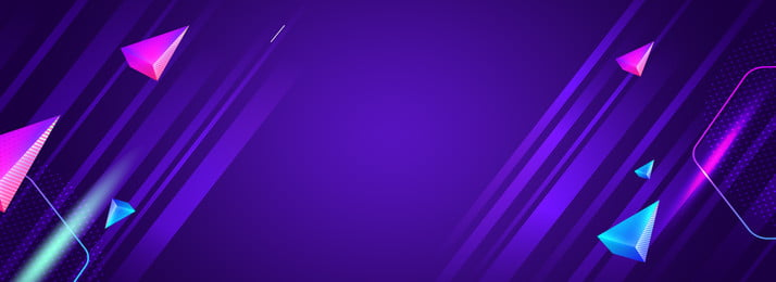 Colorful Triangle Blue Purple Banner Background, Geometric Lines, Colorful Triangle, Blue-violet Shading, Background image
