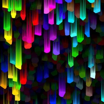nền công nghệ âm thanh nổi 3d đầy màu sắc mát mẻ , Tuyệt, Màu, Ba Chiều Ảnh nền