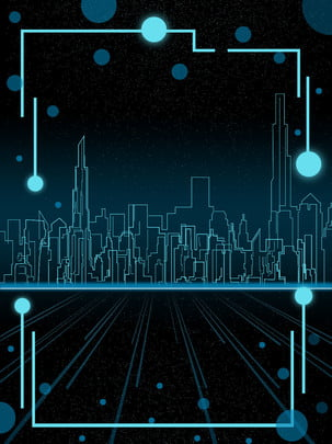 cool future technology city background , Technology, City, Linear City Background image