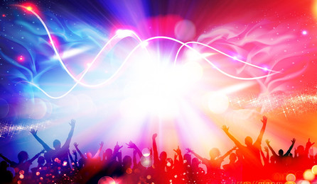 Cool music festival carnival character silhouette background design, Cool Background, Colorful, Lively Background image