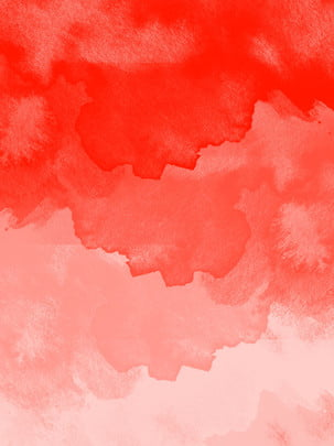 Coral Red Minimalist Watercolor Splash Background, Coral Red, Simple, Watercolor, Background image