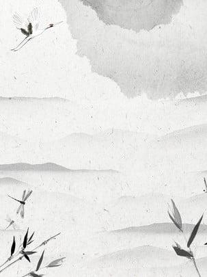 クレーン竹山テクスチャ背景 , クレーン, 竹, 山脈 背景画像