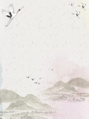 クレーン山ビンテージテクスチャ背景 クレーン 大きな山 野生のガチョウ 背景画像