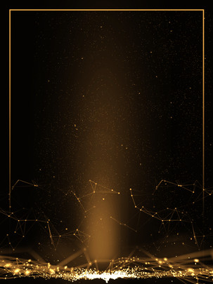 creative black gold high end annual light effect background , Creative, Black Gold, Annual Meeting Background image