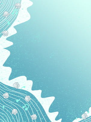 創意藍色音樂海洋背景 , 創意, 手繪, 藍色 背景圖片