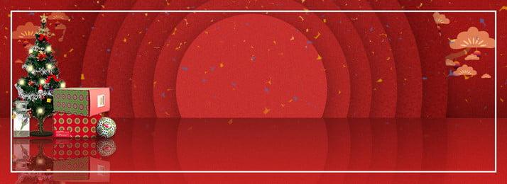 Sáng tạo Giáng sinh nổi bật nền đỏ biểu ngữ Sáng tạo Ba chiều Giai Chiều Giai Thông Hình Nền