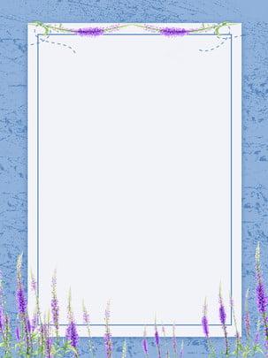 Fronteira criativa literária flores fundo floral Fundo Claro Pequeno Imagem Do Plano De Fundo