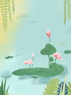 material de fundo capa calendário lótus aquarela criativa , Criativo, Aquarela, Lotus Imagem de fundo