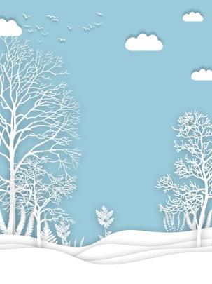 크리 에이 티브 화이트 3 차원 풍경 종이 컷 배경 , 순수한 흰색, 풍경, 지점 배경 이미지