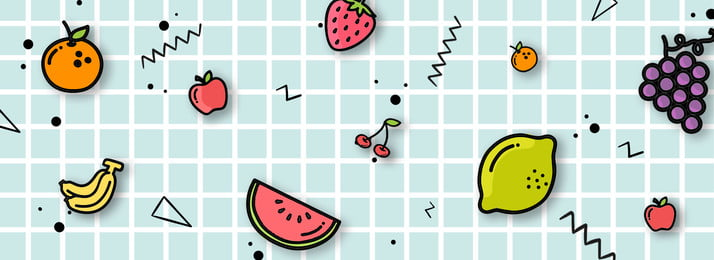 cute fruit desktop background material, Fruit, Lovely, Hand Painted Background image