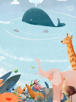 Fundo animal bonito proteção pública Fresco Caricatura Plano Imagem Do Plano De Fundo