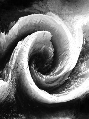 3d Black And White Stereo Vortex Cool Background, Black And White, 3d, 3d Stereo, Background image