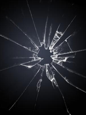 深色背景碎玻璃洞口背景 , 背景, 玻璃, 破碎 背景圖片