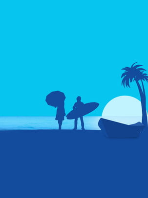 dark blue seaside surf background , Blue Background, Surf, Couple Background Background image