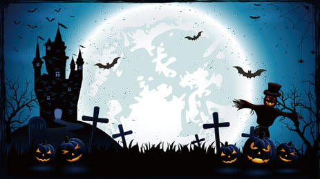 dark halloween horror background, Holiday Background, Hand Painted Background, Halloween Background Background image