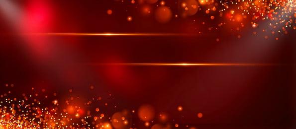 Dazzling Fresh Gold Foil Advertising Background, Advertising Background, Red Background, Light Spot, Background image