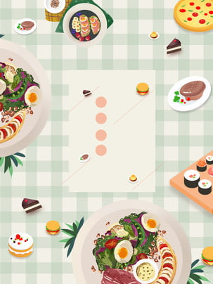 delicious hand drawn food advertising background , Advertising Background, Food, Delicious Background image