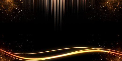 domineering black gold new year party background material, Domineering, Black Gold Wind, Golden Stream Offline Background image