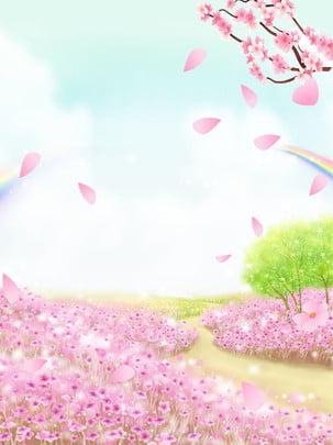 꿈꾸는 미니멀리스트 배경 , 벚꽃, 단순한, 축제 배경 이미지