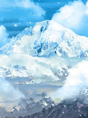 Vô cùng tuyết trắng tuyệt đẹp phong cảnh núi non phong cảnh Phong cách đơn Phong đơn Doanh Hình Nền