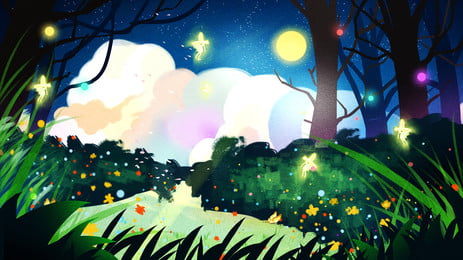 おとぎ話のファンタジーの森の背景, おとぎ話, 色, 夢 背景画像