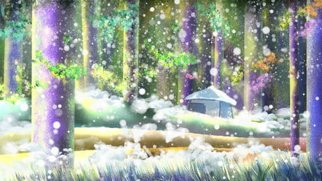 Fairy Tale Wind Painting Fantasy Woods Background Illustration Tale,painted Background,illustration Background,forest,fantasy, Background, Trees, Advertising, Background image
