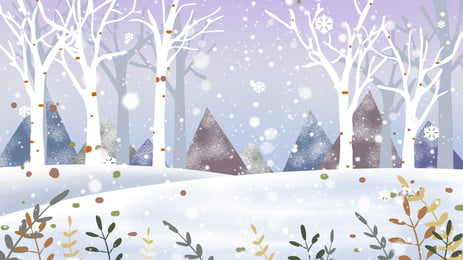Winter Snow Forest Trees Background Forest Gorgeous