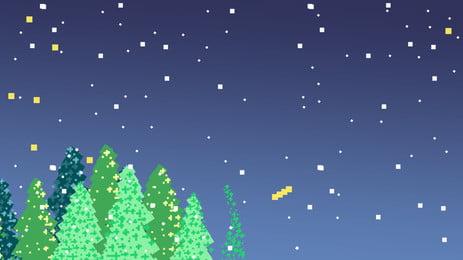Fantasia de véspera natal festival pine tree illustration Linda Natal Véspera Imagem Do Plano De Fundo