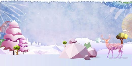 fantasy christmas low poly snow scene background, Giấc Mơ, Đa Giác Thấp, Vẽ Tay Nền Ảnh nền