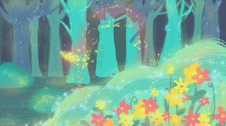 Fantasy Fairytale Wind Flower Background Design Background,fantasy Background,fairy Tale,flower, Background, Illustration, Background, Background image