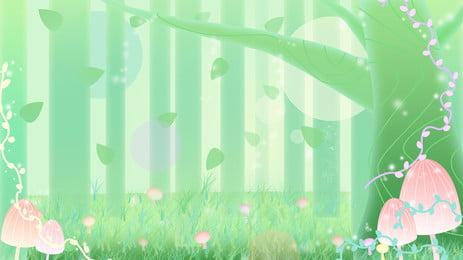 fantasy fairytale wind green madeiras fundo, Sonho, Fundo Verde, Conto De Fadas Imagem de fundo