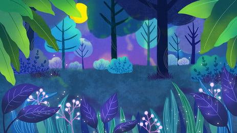 Fantasy Forest Background Design Background,illustration Background,fairy Tale,advertising, Background, Background, Material, Background image