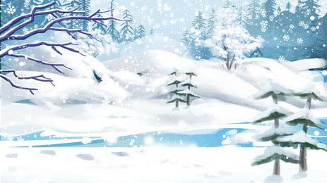 fantasy ice world advertising background design, Dream, Beautiful, Ice World Background image