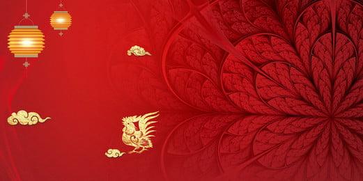 喜慶盛開大紅色花朵廣告背景, 紅色背景, 廣告背景, 燈籠 背景圖片
