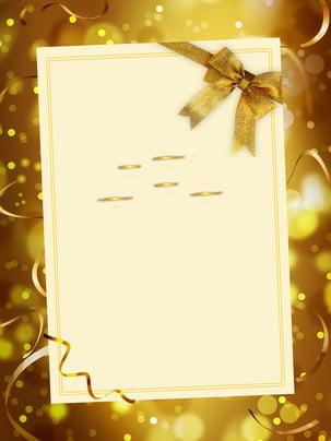 喜慶金色邀請函廣告背景 , 廣告背景, 金色, 金箔 背景圖片