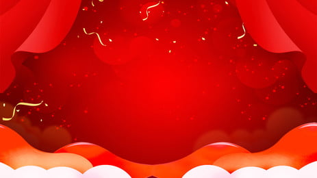 Festive Gradient Red New Year Background Pattern,spring Festival Board, Background, New, Year, Background image