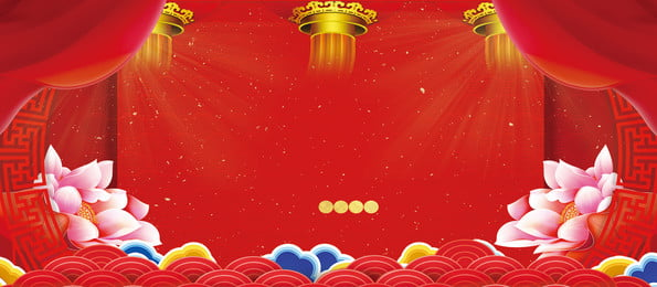 chất liệu nền quảng cáo cao cấp của lễ hội lotus, Nền Quảng Cáo, Nền đỏ, Đèn Lồng Ảnh nền